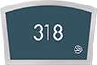 Custom Apex Room Number Braille Signs, 4.25