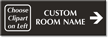 Custom Engraved Right Arrow Direction Room Sign