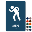 Men Party Restroom TactileTouch Braille Sign