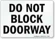 Block Doorway Sign