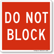 DO NOT Block Magnetic Door Sign