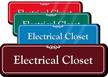 Electrical Closet ShowCase Sign