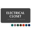 Electrical Closet Tactile Touch Sign With Braille