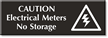 Electrical Meters No Storage Select-a-Color Engraved Sign