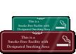 Designated Smoking Area ShowCase™ Wall Engraved Sign