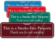 Smoke Free Property ShowCase™ Wall Engraved Sign
