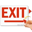 Exit Directional Arrowheads Sign