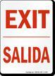 Bilingual Exit Salida Sign