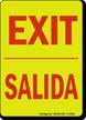 Bilingual Exit Salida Glow-in-the-Dark Sign