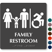 Family Restroom TactileTouch Braille Sign, New ISA Symbol