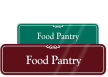 Food Pantry Showcase Wall Sign
