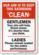 Keep Bathroom Clean Sign