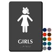 Girls Restroom Braille Sign