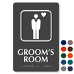 Grooms Room Symbol ADA TactileTouch™ Sign with Braille