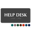Help Desk ADA TactileTouch™ Sign with Braille