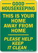 Good Housekeeping This Is Home Away Sign