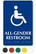 All-Gender Sintra Braille Restroom ISA Symbol Sign