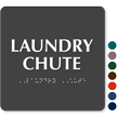 TactileTouch™ Laundry Chute Sign with Braille