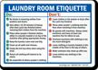 Laundry Room Etiquette Sign