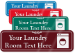 Laundry Room Symbol Sign