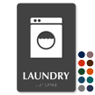 Laundry TactileTouch Braille Sign