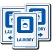 Laundry Sign with Washing Machine Symbol