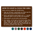 How To Light & Clean Grill Engraved Sign