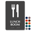 Lunch Room TactileTouch Braille Sign