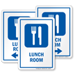 Lunch Room Sign with Symbol