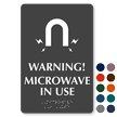 Microwave In Use Magnetic Field Symbol Braille Sign
