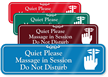 Quiet Please Massage In Session Sign