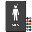 Men TactileTouch Braille Sign with Devil Symbol