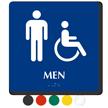 Men And Handicap Pictogram Braille Restroom Sign