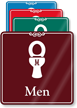 Men Humorous Restroom Showcase Sign