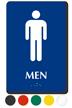 Men Pictogram Braille Restroom Sign