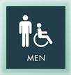 Men w/M/ISA Symbol Sign