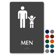 Men Braille Sign with Man and Boy Symbol