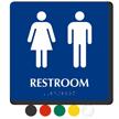 Men And Women Pictogram Braille Unisex Restroom Sign