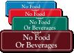 No Food Beverages Sign