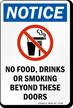 No Food Drinks Smoking Beyond Sign