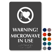 Microwave In Use No Pacemaker Symbol Braille Sign