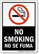 No Smoking / No Se Fuma Sign