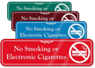 No Smoking or Electronic Cigarettes Sign with Graphic