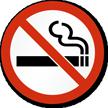 No Smoking (Symbol only) Sign
