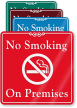 No Smoking On Premises ShowCase Wall Sign