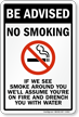 Be Advised, No Smoking Sign