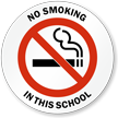 No Smoking in this School Window Decal