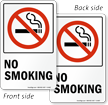 No Smoking TwinCal™ 2-Sided Window Decals