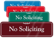 No Soliciting Sign