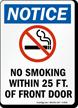Notice No Smoking Within Sign
